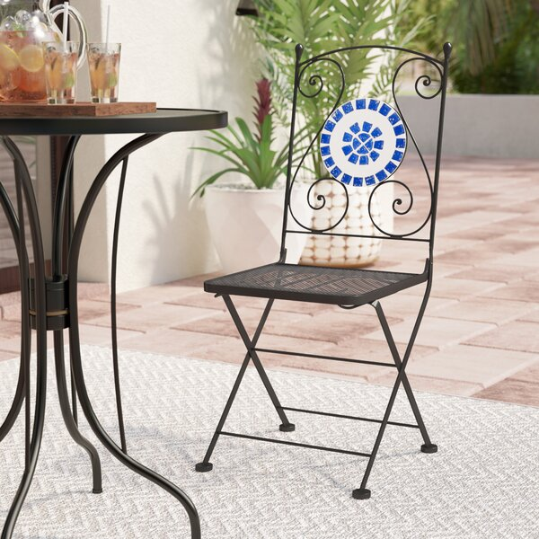 Sonderborg Bistro Folding Patio Dining Chair (Set of 2) by World Menagerie