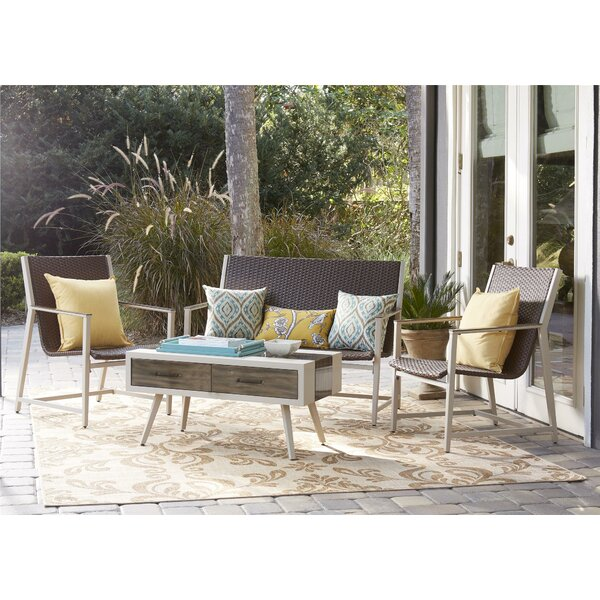 Santa Fe 4 Piece Rattan Sofa Seating Group by Novogratz