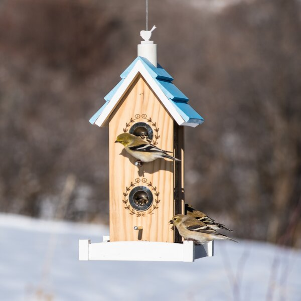 Birdie B&B Wood Chalet Decorative Bird Feeder by P