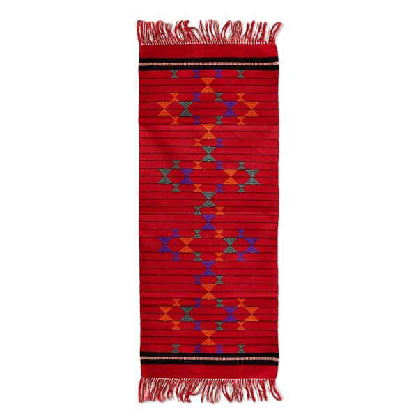 Festive Constellations Cotton Table Runner by Novica
