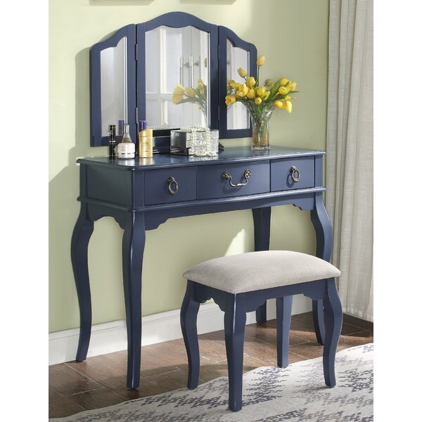 Yesenia Vanity Set with Mirror by Alcott Hill