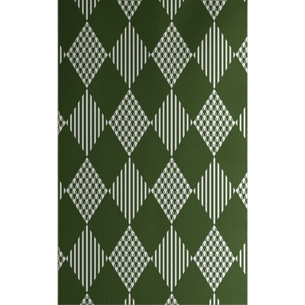 Christmass Green Indoor/Outdoor Area Rug by The Ho