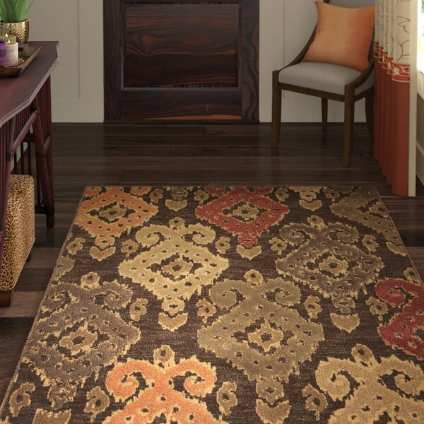 Malakai Mocha Allover Brown Area Rug by World Menagerie