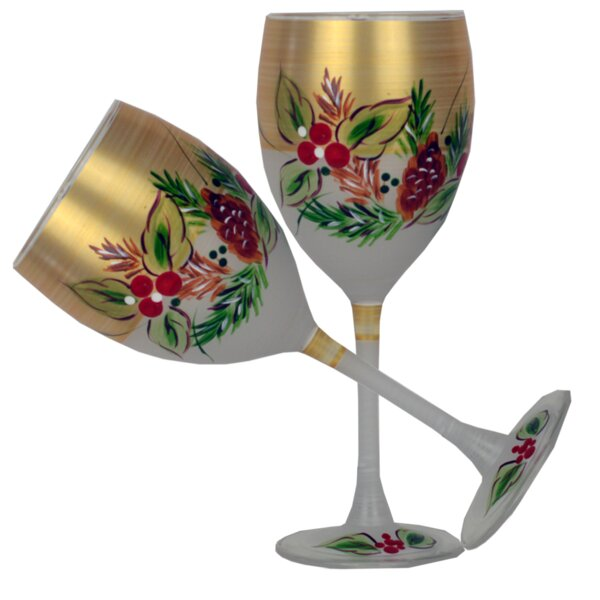 Ducharme Pine Glass 10.5 oz. All Purpose Glass (Set of 2) by The Holiday Aisle