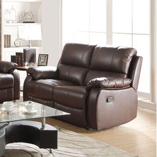 Malave Leather Reclining Loveseat Red Barrel Studio