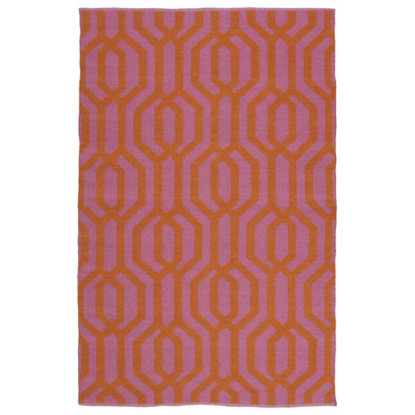 Camillei Pink/Orange Indoor/Outdoor Area Rug by Willa Arlo Interiors