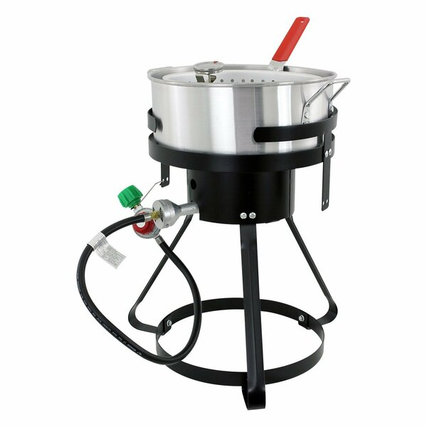 10.5-Quart 1-Burner Fish Propane Deep Fryer by Chard