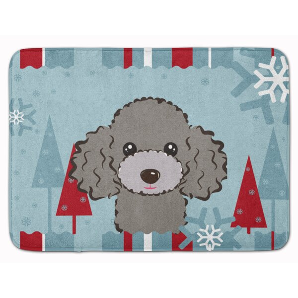 Winter Holiday Poodle Memory Foam Bath Rug by East Urban Home