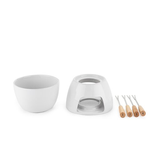 Dip™ Cheese Ceramic Fondue Set by True Brands