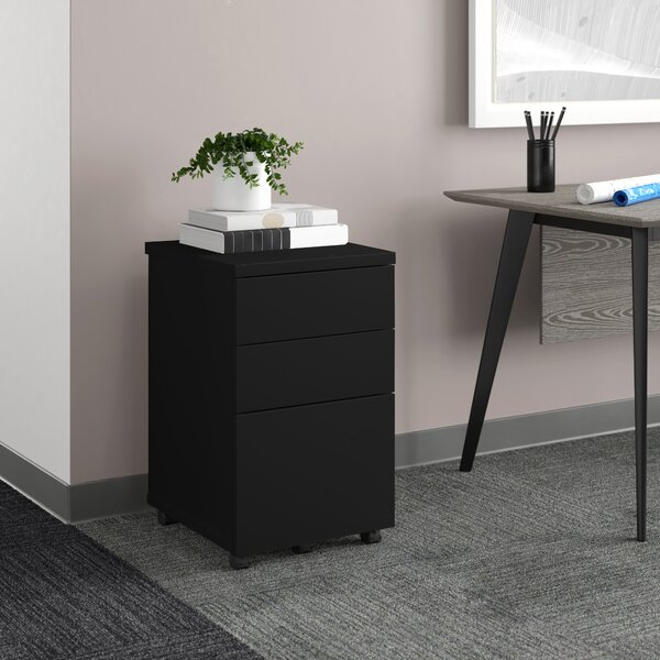 Ivar 3-Drawer Mobile Vertical Filing Cabinet