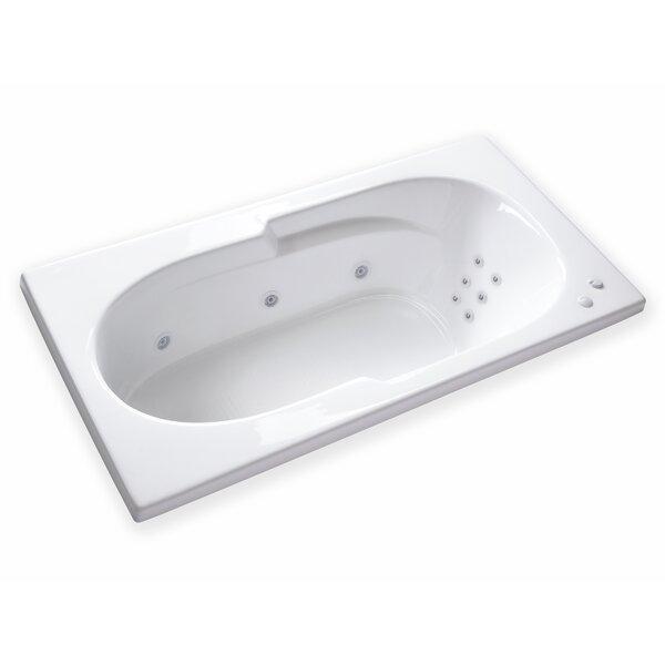 Hygienic Aqua Massage 72 x 36 Whirlpool Bathtub by Carver Tubs