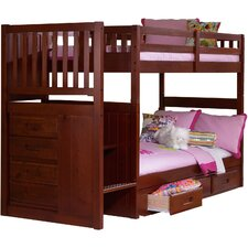 Springside Twin over Twin Bunk Bed with Staircase and Trundle by Cambridge