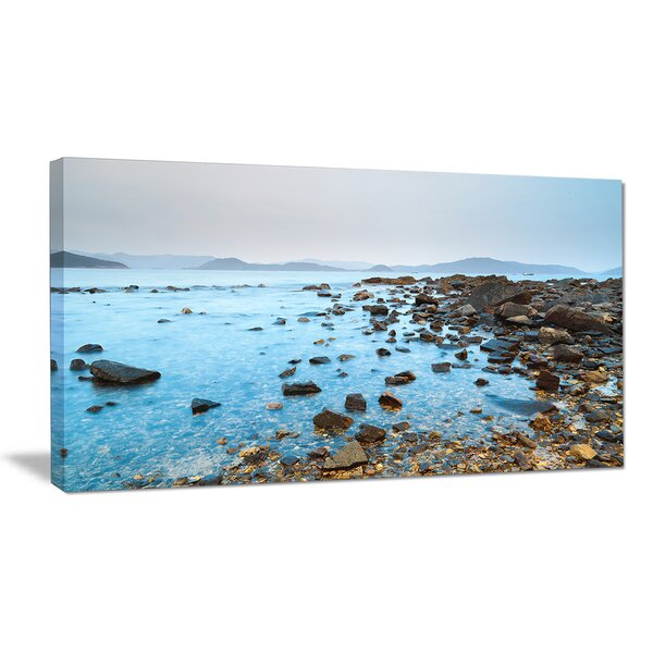 Hong Kong Port Shelter Stony Beach Large Seashore Photographic Print on Wrapped Canvas by Design Art