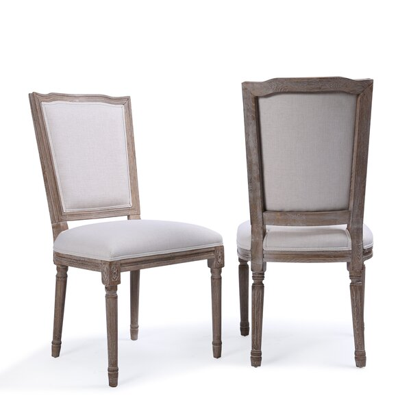 Agda Modern Classic Elegant Upholstered Dining Chair (Set of 2) by One Allium Way