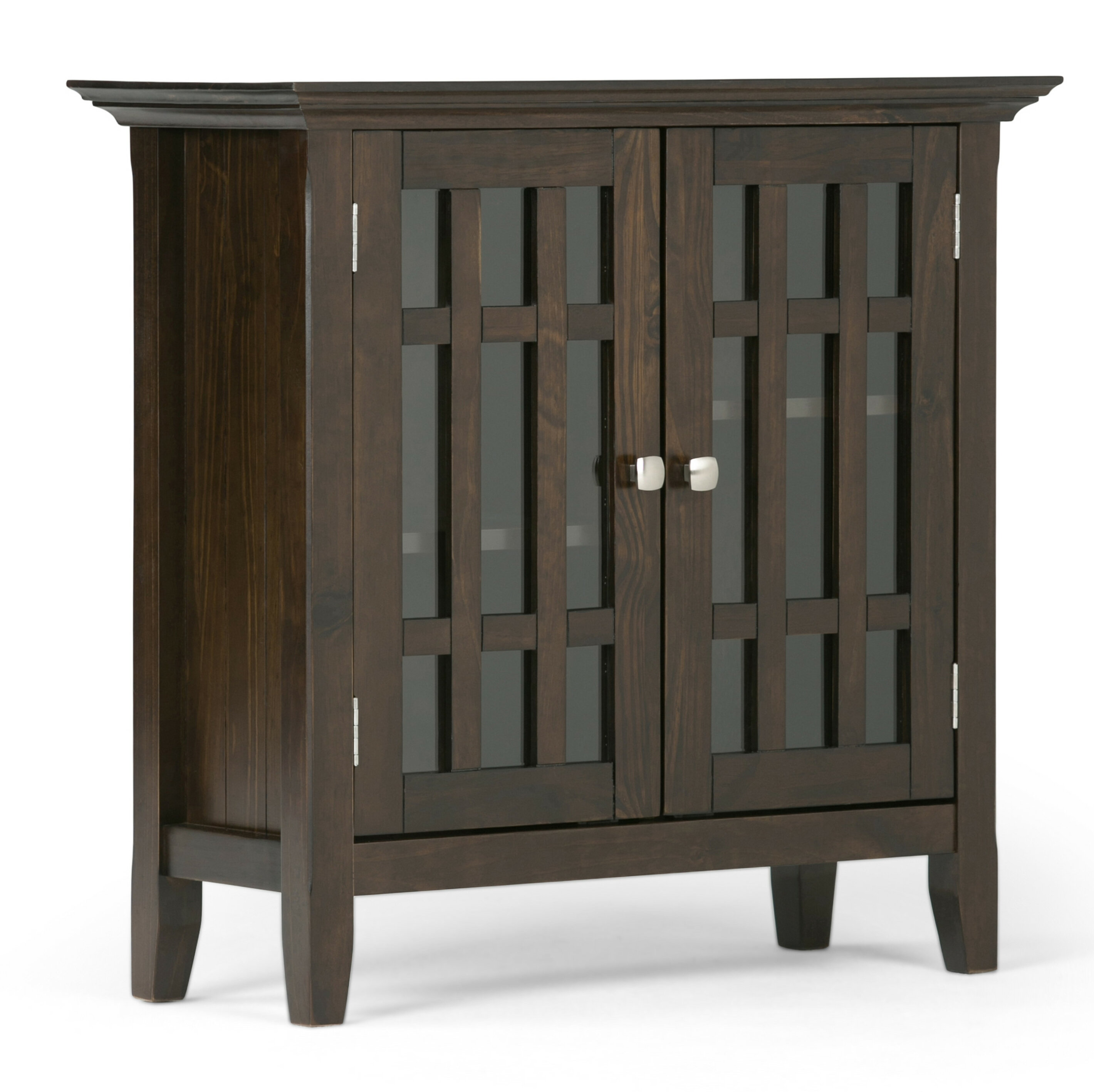 Simpli Home Bedford Low Storage Media Accent Cabinet