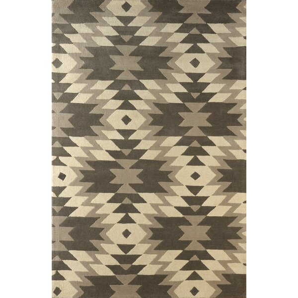 Alverstone Hand-Tufted Soot/Brown Area Rug by Loon Peak
