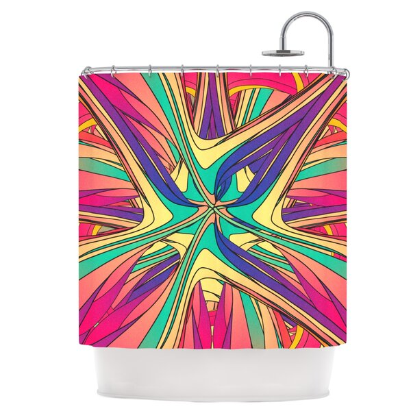 Veins Shower Curtain by East Urban Home
