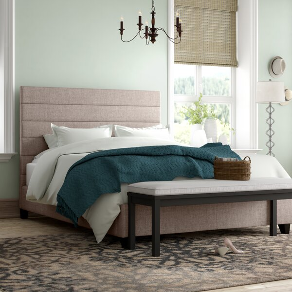 Huebert Upholstered Panel Bed by Three Posts