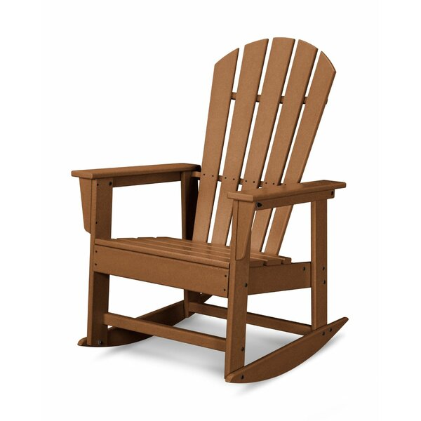 South Beach Recycled Plastic Rocking Adirondack Chair by POLYWOOD POLYWOOD®