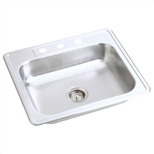 Kingsford 25 L x 22 W Top Mount Single Bowl Kitchen Sink by Elkay