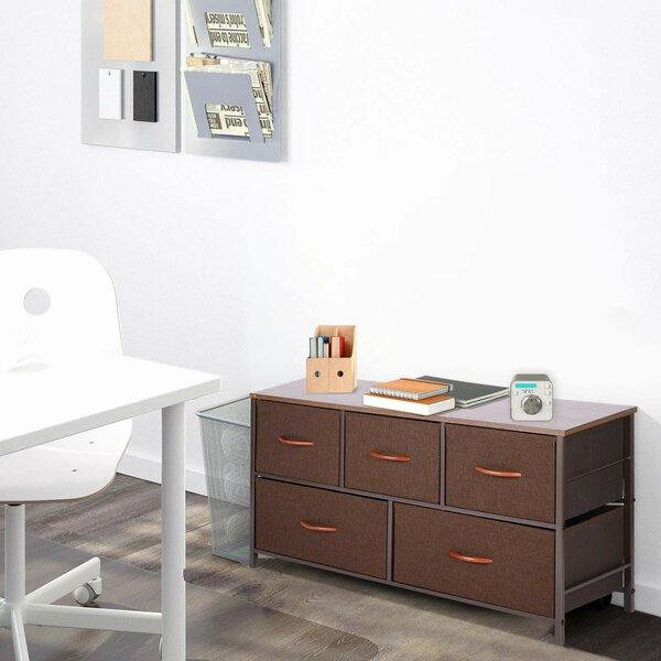 Check Price Alwie Storage Tower 5 Drawer Dresser