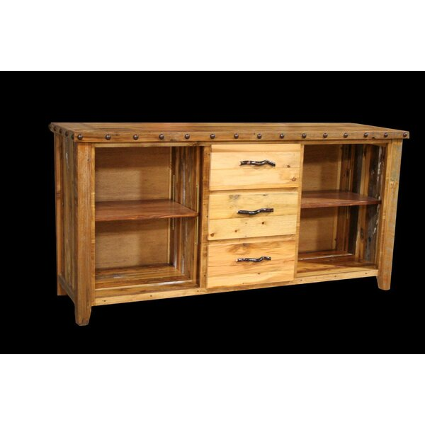Review Jorgensen 3 Drawer Console Table With Side Cubbies