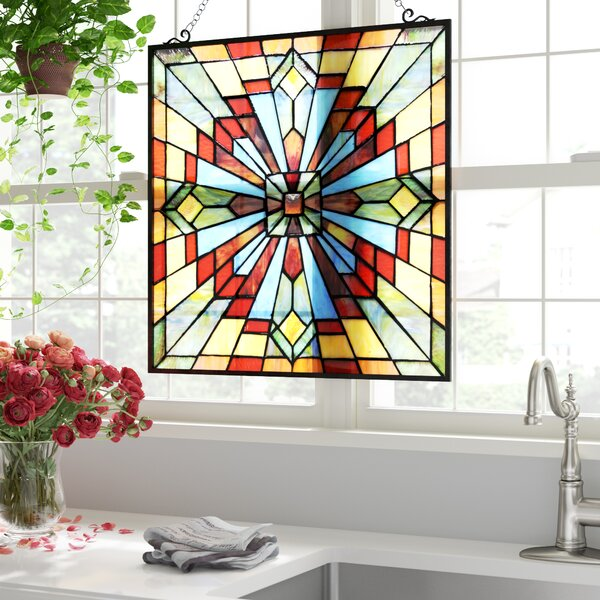 Stained Glass Window Panel by Astoria Grand