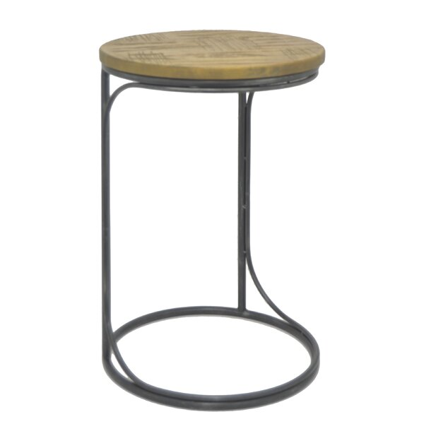 Raymundo Metal and Wood End Table by Williston Forge Williston Forge