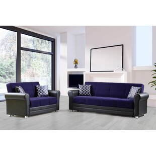 Seabeck 2 Piece Sleeper Living Room Set by Red Barrel Studio®