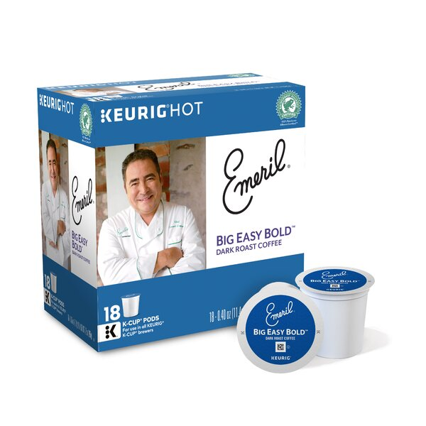 Emerils Big Easy Bold Coffee K-Cup (Pack of 108) by Keurig