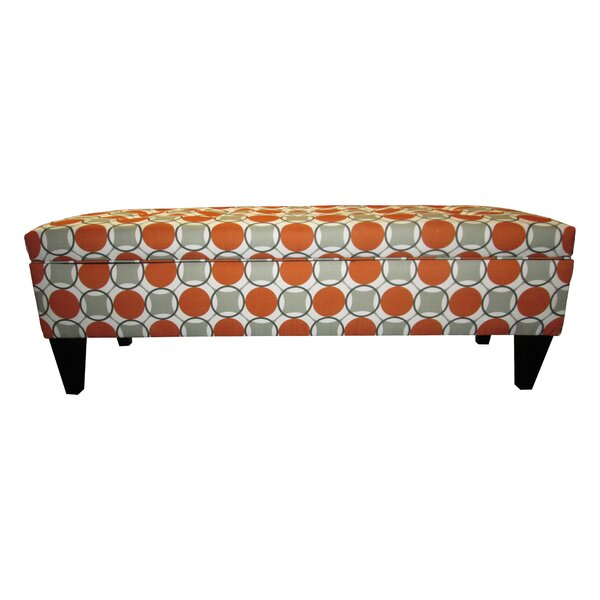 Regis Traditional Fabric Storage Bench by Red Barrel Studio