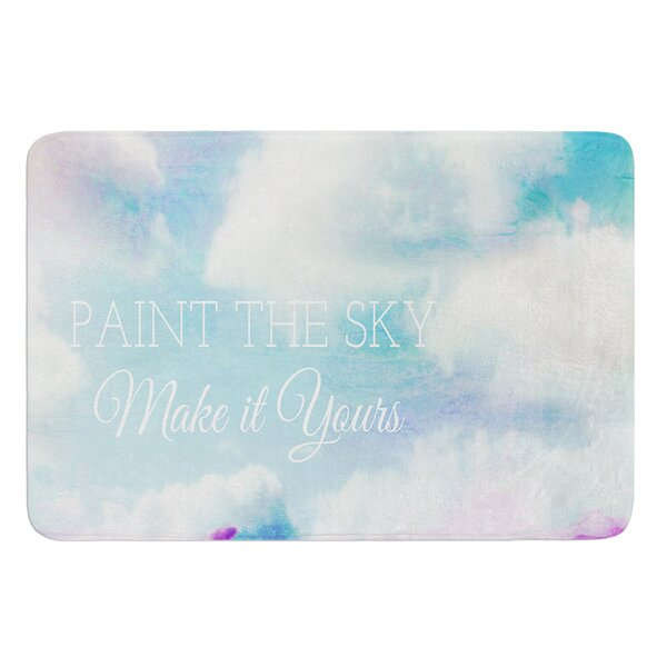 Paint the Sky by Alison Coxon Bath Mat by East Urban Home