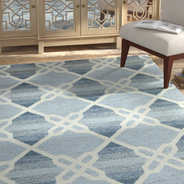Amol Hand-Tufted Blue Area Rug by Bloomsbury Market