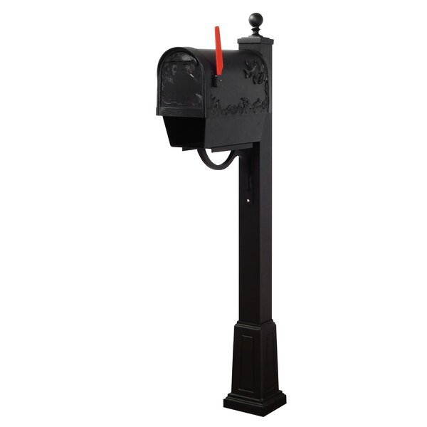 Hummingbird Curbside Mailbox with Springfield Post Included with Base by Special Lite Products