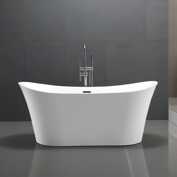 67 x 29 Freestanding Soaking Bathtub by Vanity Art