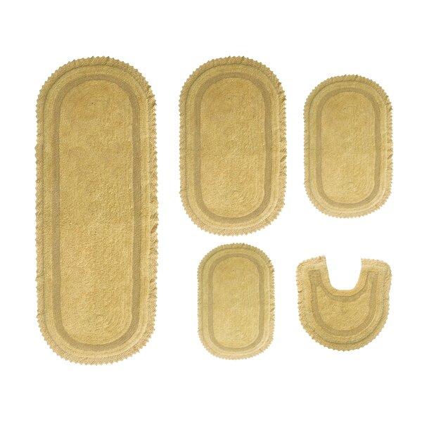 Georg Multiple 100% Cotton Non-Slip 5 piece Bath Rug Set