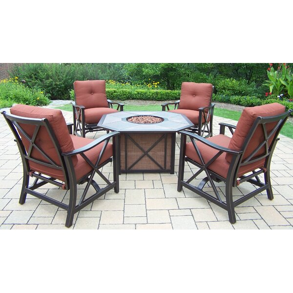 Haywood 5 Piece Conversation Set with Cushions by Oakland Living