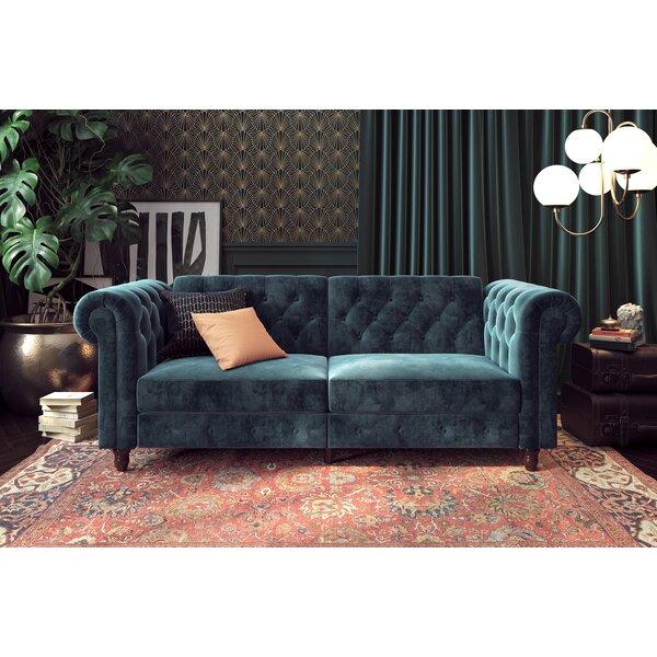 #2 Aranza Chesterfield Convertible Sofa By House Of Hampton Comparison