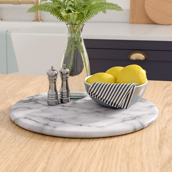 Angelica White Marble Lazy Susan by Mint Pantry