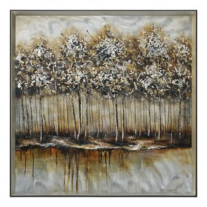 Metallic Forest by Giovanni Russo Framed Painting by Ren-Wil
