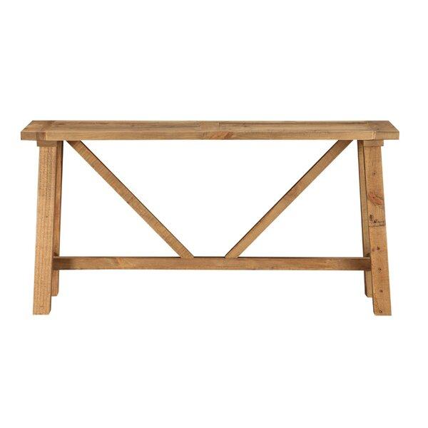 Review Ozuna Pine Console Table