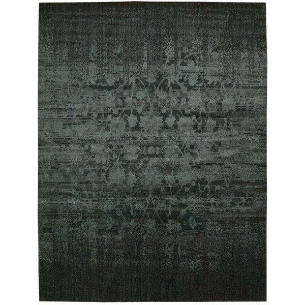 Sahana Wool Brick Area Rug by World Menagerie