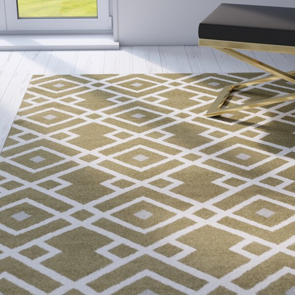 Hewitt Olive Geometric Area Rug by Mercer41