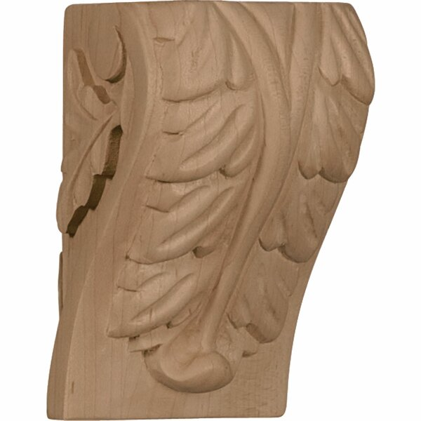Acanthus 4H x 2 1/2W x 2 1/4D Small Leaf Block Corbel in Hard Maple by Ekena Millwork