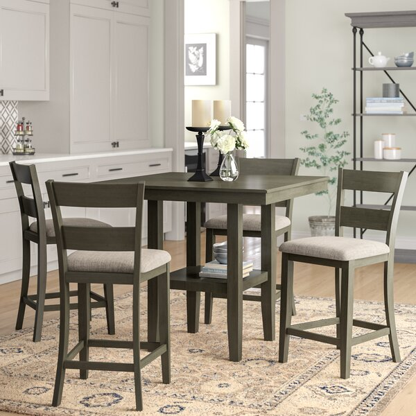 Gwyneth 5-Piece Counter-Height Dining Set by Charlton Home