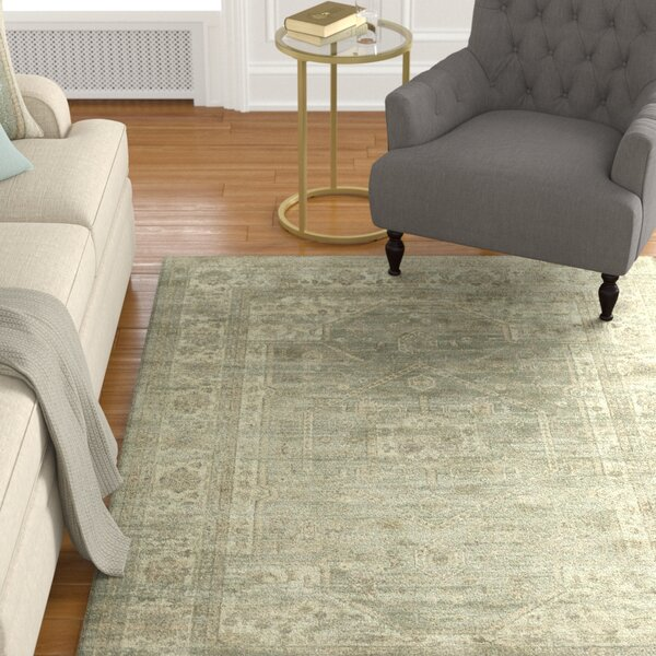 Ercole Mouse Wool Area Rug by Darby Home Co