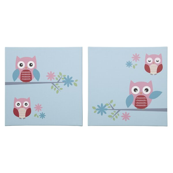 2 Piece Graphic Art Print Set on Wrapped Canvas by Zoomie Kids