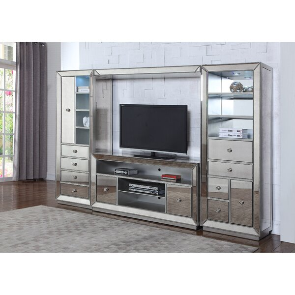 Mirrored Entertainment Center by BestMasterFurniture