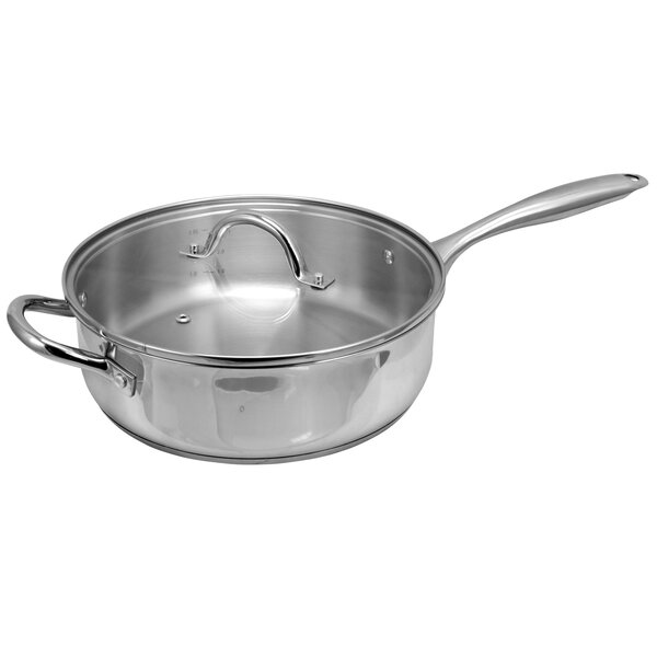 Lexie 4.2 qt. Saute Pan with Lid by Symple Stuff