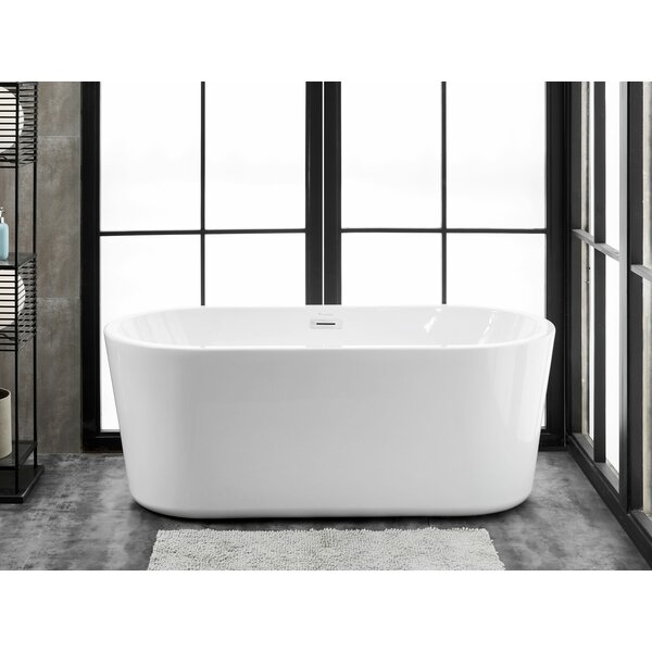 Accent 59 L x 28 W Freestanding Soaking Bathtub by Finesse